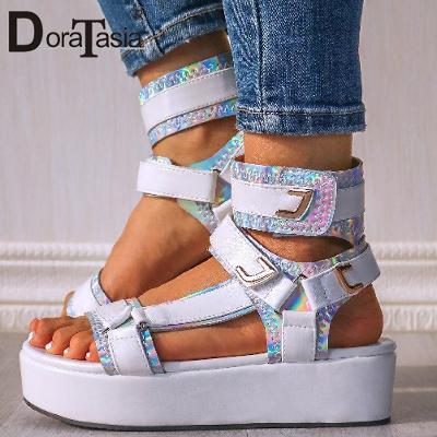 Páskové luxusní dámské sandálky - gladiatorky - vel.41