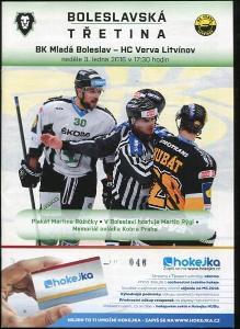 program hokej - Mladá Boleslav - HC Litvínov 2016