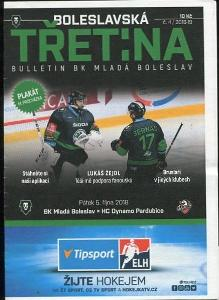 program hokej - Mladá Boleslav - HC Pardubice 2018