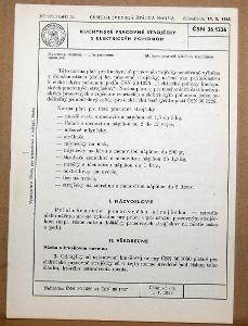 STARÁ NORMA ČSN 36 1226 1966 ELEKTRICKÉ KUCHYNSKÉ STROJČEKY NÁLEZ