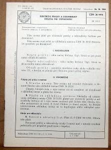 STARÁ NORMA ČSN 36 1415 1967 ELETRICKÉ PRÁČKY A ODSTREDIVKY NÁLEZ
