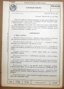 STARÁ NORMA ČSN 36 1430 1960 ELETRICKÉ PODUŠKY NÁLEZ
