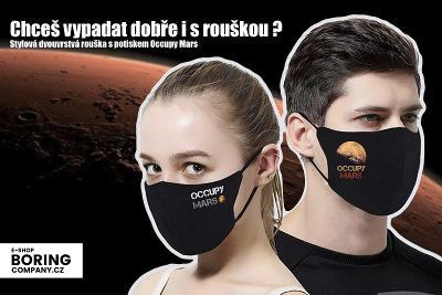 Rouška s potiskem Occupy Mars