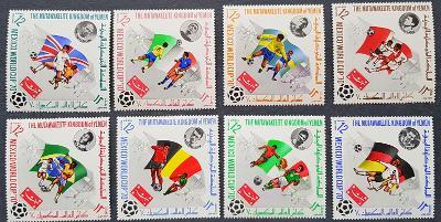 Jemen Kingdom 1970 fotbal Mexico 70, 8ks známek