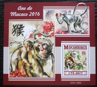 Mosambik 2015 Čínský nový rok, rok opice Mi# Block 1094 Kat 10€ 2159