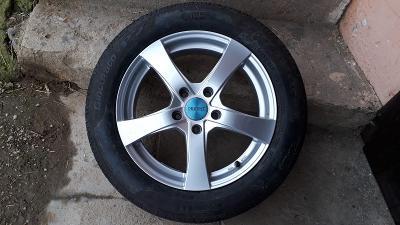 4x   Alu disky 7x17 ET41 5x120 + letní pneu 215/55 R17 94V
