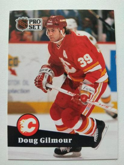 Doug Gilmour #34 Calgary Flames 1991/92 Pro Set French - Sportovní sbírky