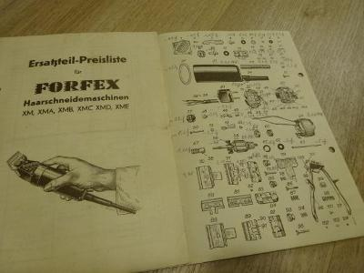 Katalog kadeřnictví holičství  reklamní FORFEX cca 1930 č.1