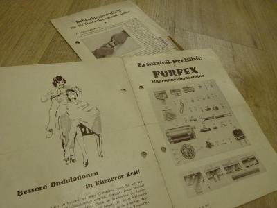 Katalog kadeřnictví holičství  reklamní FORFEX cca 1930 č.2