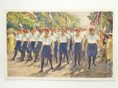 Praha - SOKOL - SLET 1926 - malíř Blažek