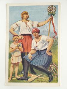 Praha - SOKOL - SLET 1926 - malíř Blažek - razítko