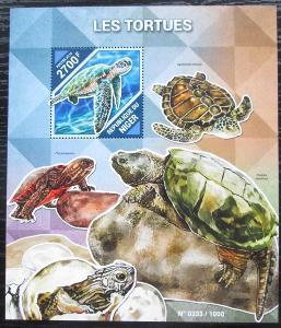 Niger 2015 Želvy Mi# Block 481 Kat 10€ 2162