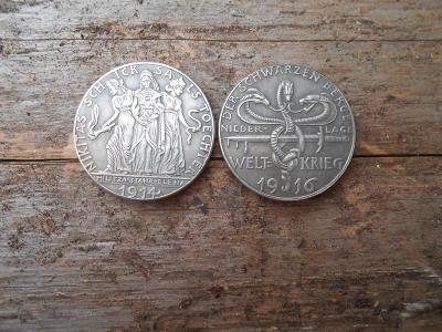Medaile  Německo Welt Krieg1916 repro