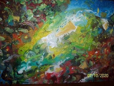 JUST COLOURS,  olej na sololitu, 35 x 25 cm