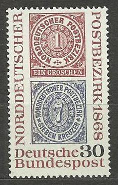 Německo BRD čisté, rok 1968, Mi. 569