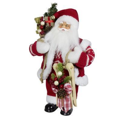Vánoční dekorace Ježíšek Santa s dárky 45 cm