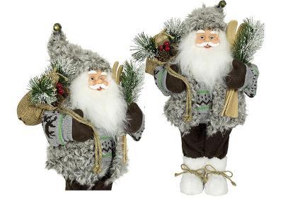Vánoční dekorace Ježíšek Santa šedivý 45 cm