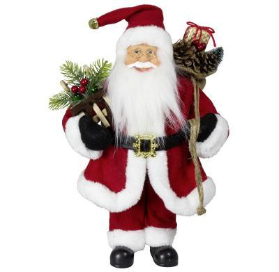 Vánoční dekorace Ježíšek Santa v červeném kabátku 45 cm