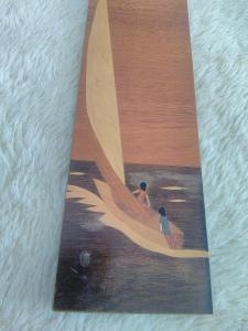Obdélníkový dřevěný vyřezávaný obrázek