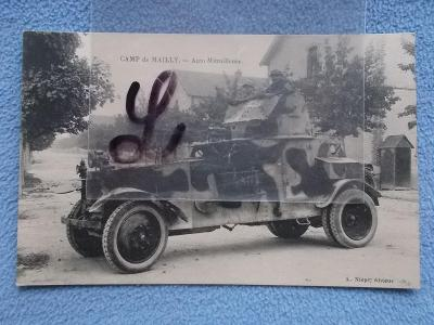 Francie armáda technika válka Obrněný automobil lehký kanon Camp de Ma