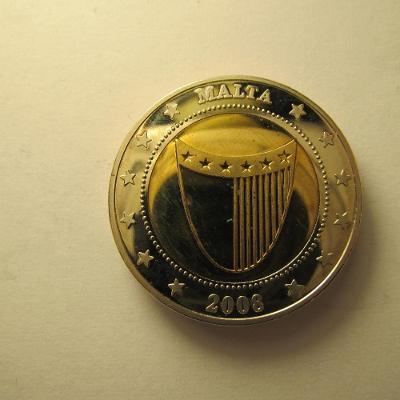 Malta - 2008, pamětní medaile o vstup do EU