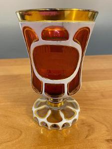 Biedermeier sklenice s rytinou Teplic, cca 1850