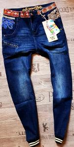 DESIGUAL denim_exotic boyfriend luxusní džíny/ W30-L1,-