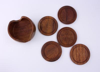 RETRO dřevené tácky pod nápoje