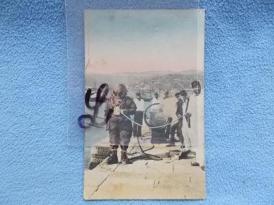 Armáda I. světová válka voják námořník potápěč skafandr Terst přístav