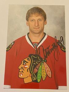 Autogram - Nikolai Khabibulin - Chicago Blackhawks NHL