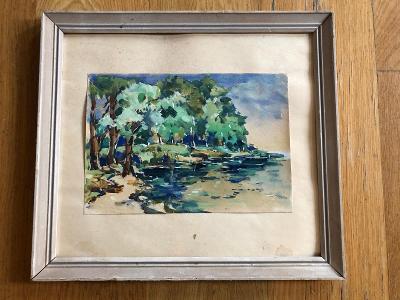 Krajina - Akvarel