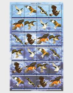 Svatý Martin Nizozemsko 2020 Známky aršík ** Ptáci Sokoli