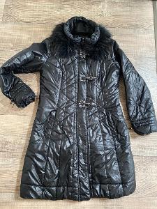 Dámský kabát, bunda s pravou kožešinou, vel. 40- 42