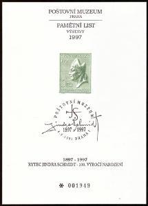 POF. PTM 8 - PAMĚTNÍ TISK PM SVATÝ VOJTĚCH, JINDRA SCHMIDT (T9611)