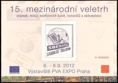 ČR, PAMĚTNÍ LIST - VELETRH SBĚRATEL 2012 - NULY (S1088)