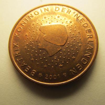 Euromince - Nizozemsko 5 Eurocent - 2001