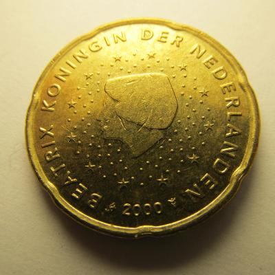 Euromince - Nizozemsko 20 Eurocent - 2000