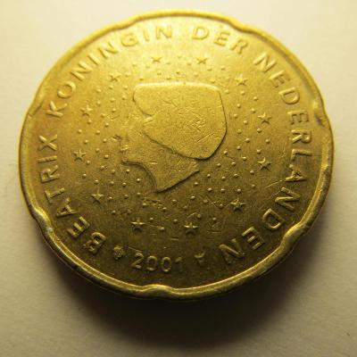 Euromince - Nizozemsko 20 Eurocent - 2001