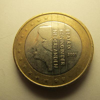 Euromince - Nizozemsko 1 Euro - 2001