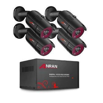 Kamerový systém ANRAN, 4x kamera 2MP HD, 1080P, DVR rekordér, AHD,CCTV
