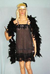 9834 CHARLESTON - dámský karnevalový kostým vel.S