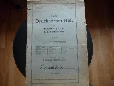 Drucksorten-Heft staré finanční doklady (sešit) z doby německa