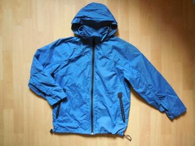 chlapecká Old Navy modrá bunda, šustka ,zip,kapuce podzim 164-170/14r