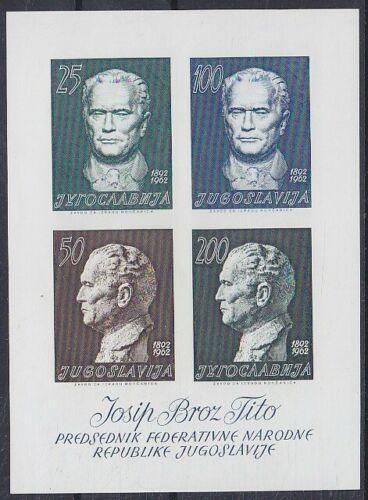 Jugoslávie 1962 Prezident Tito Mi# Block 8 Kat 30€ 2174