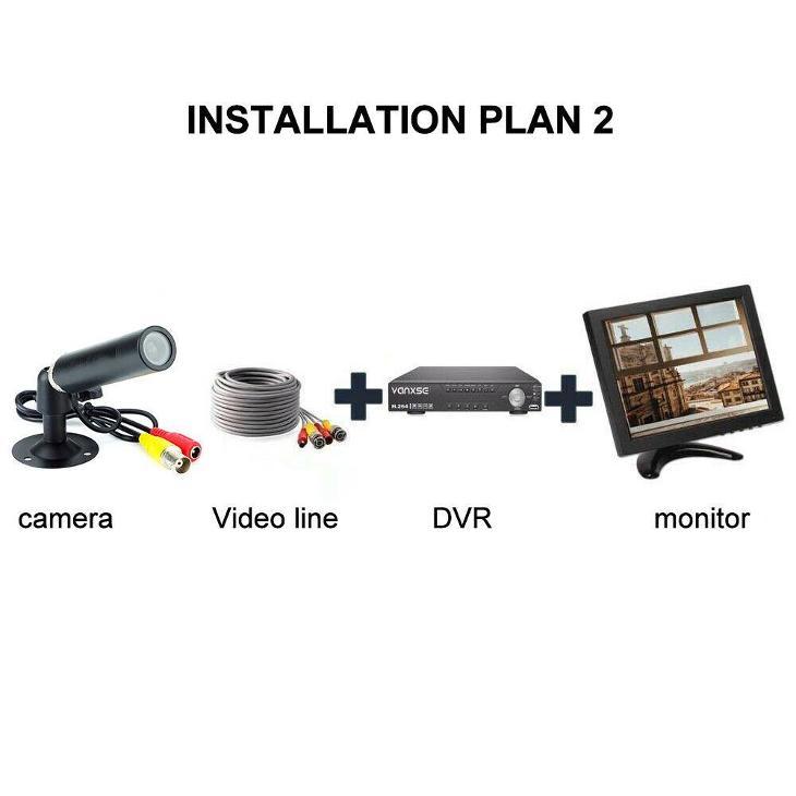 Venkovní barevná mini kamera 800TVL HD - Zabezpečovací systémy