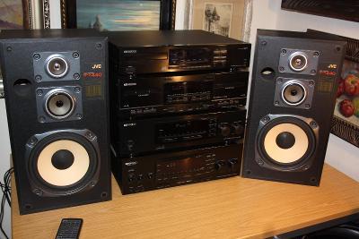 Hi-fi sestava KENWOOD receiver- CD- Tape + repro JVC SP-X440