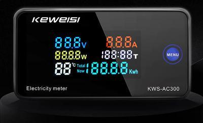 50-300 V  AC amper/ voltmet/Wattmetr 100A Elektroměr s funkcí Reset