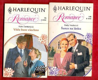 VÍTĚZ BERE VŠECHNO + ŠANCE NA LÁSKU  # 2x edice HARLEQUIN ROMANCE