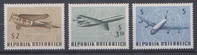 Rakousko 1968, kompl. serie letadla, svěží
