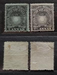 Britská Východní Afrika 1895 - komplet dvou hodnot SG29+30